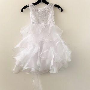 Joy Kids 3688 White Dress